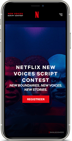 Netflix New Voices Script Contest Phone Promo
